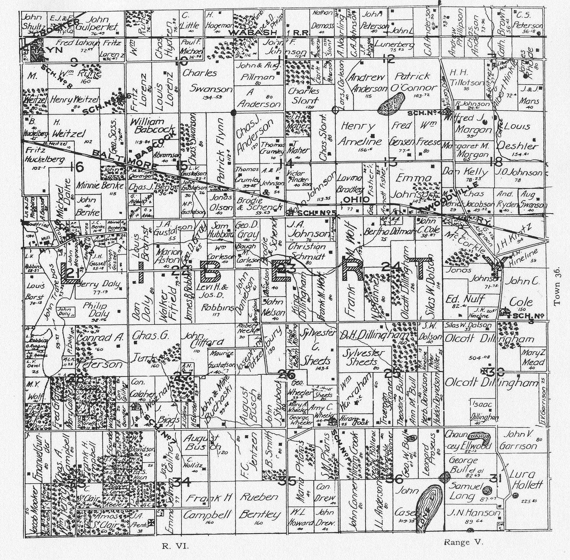 Porter County Indiana Genweb Township Plat Maps 1895