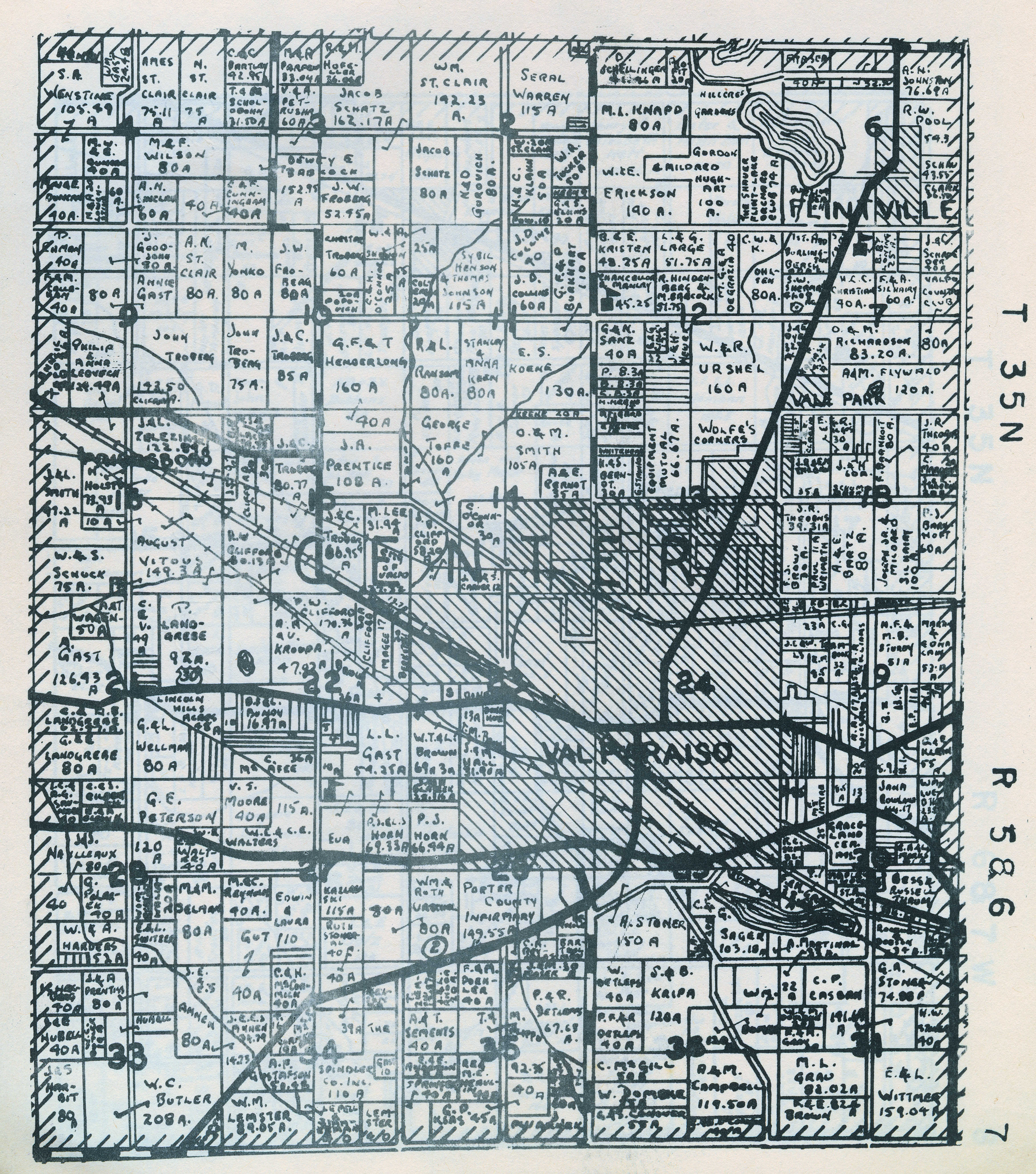 Porter County Indiana Genweb Township Plat Maps 1941