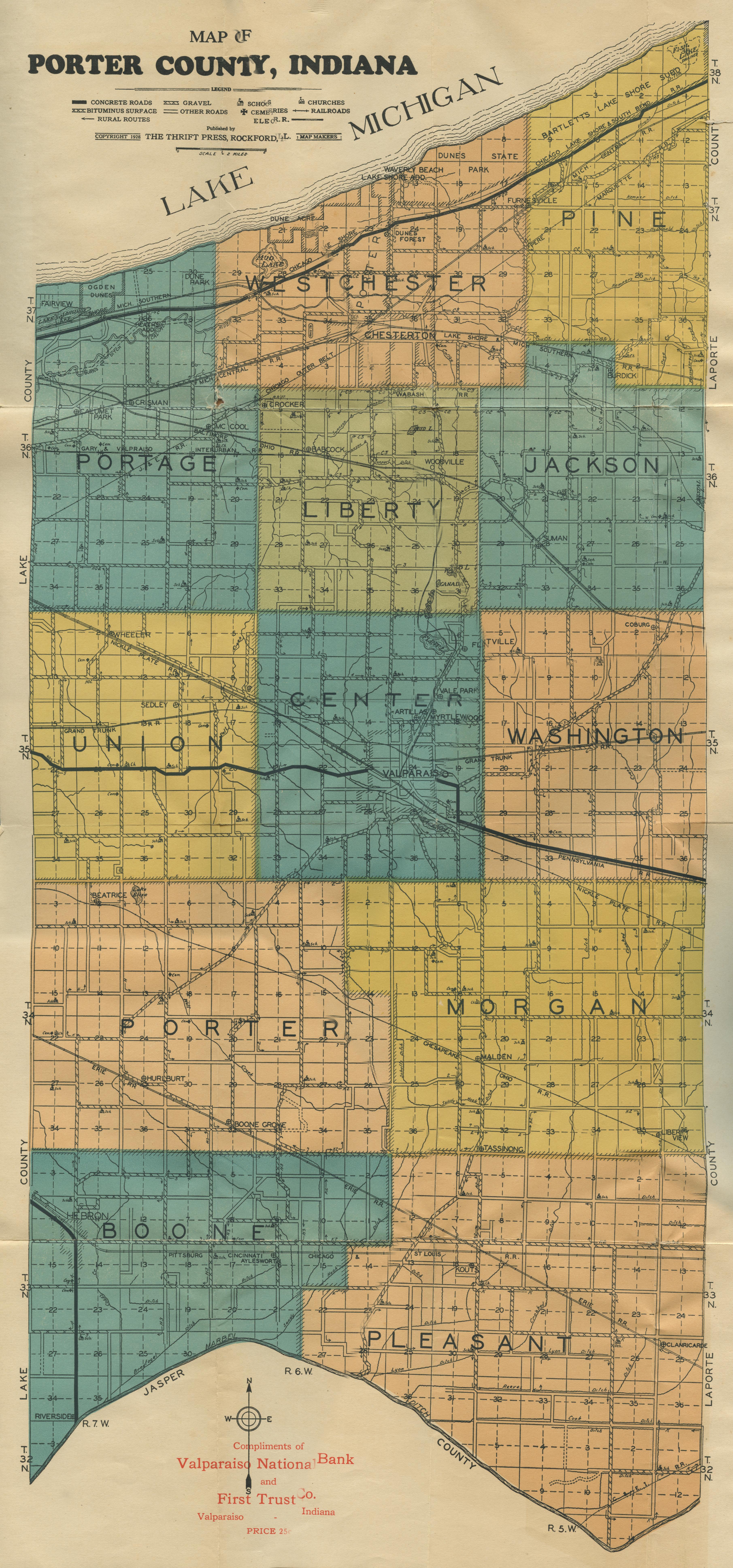 Porter County Indiana GenWeb Maps