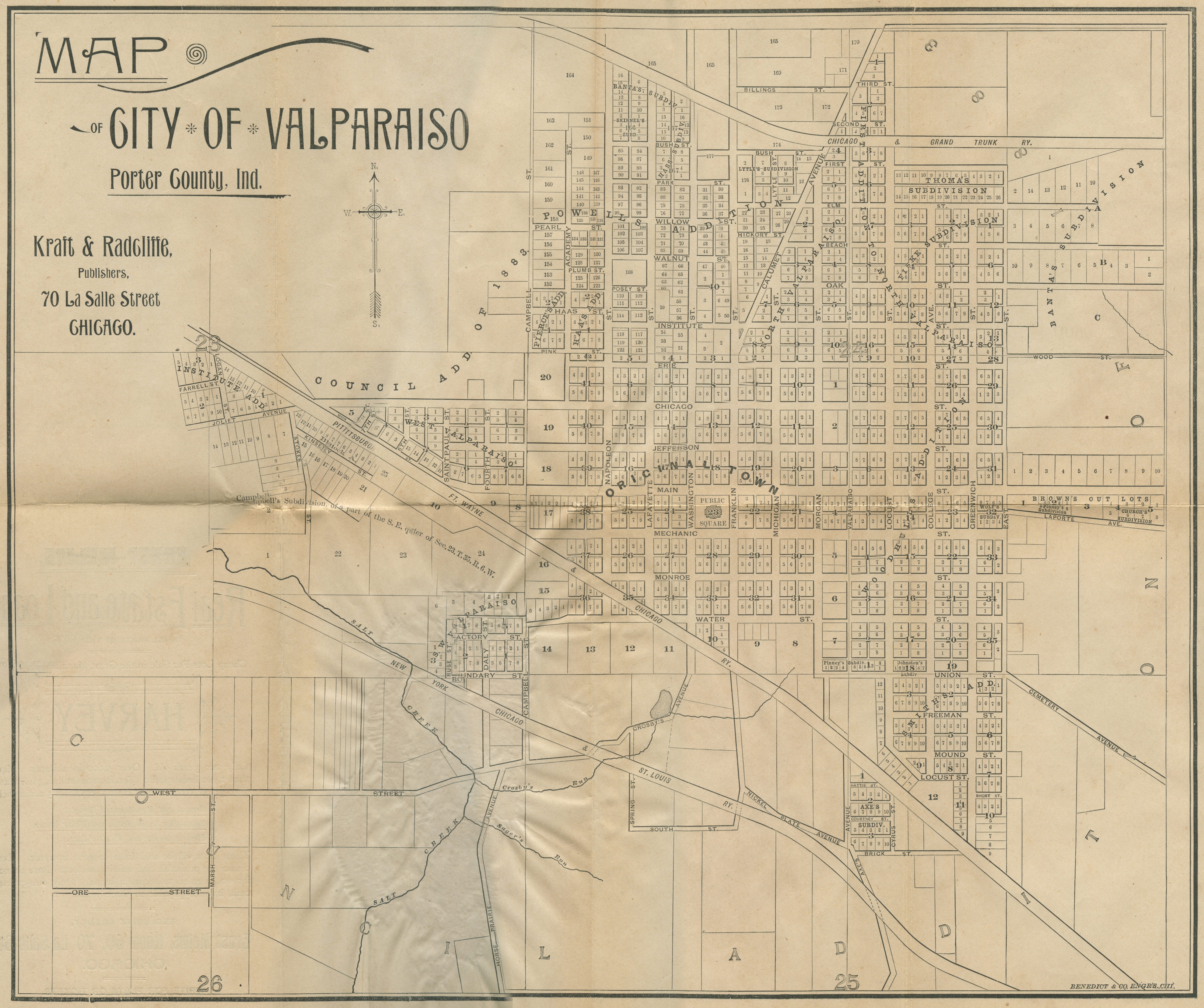 Porter County Indiana Genweb City And Village Plat Maps