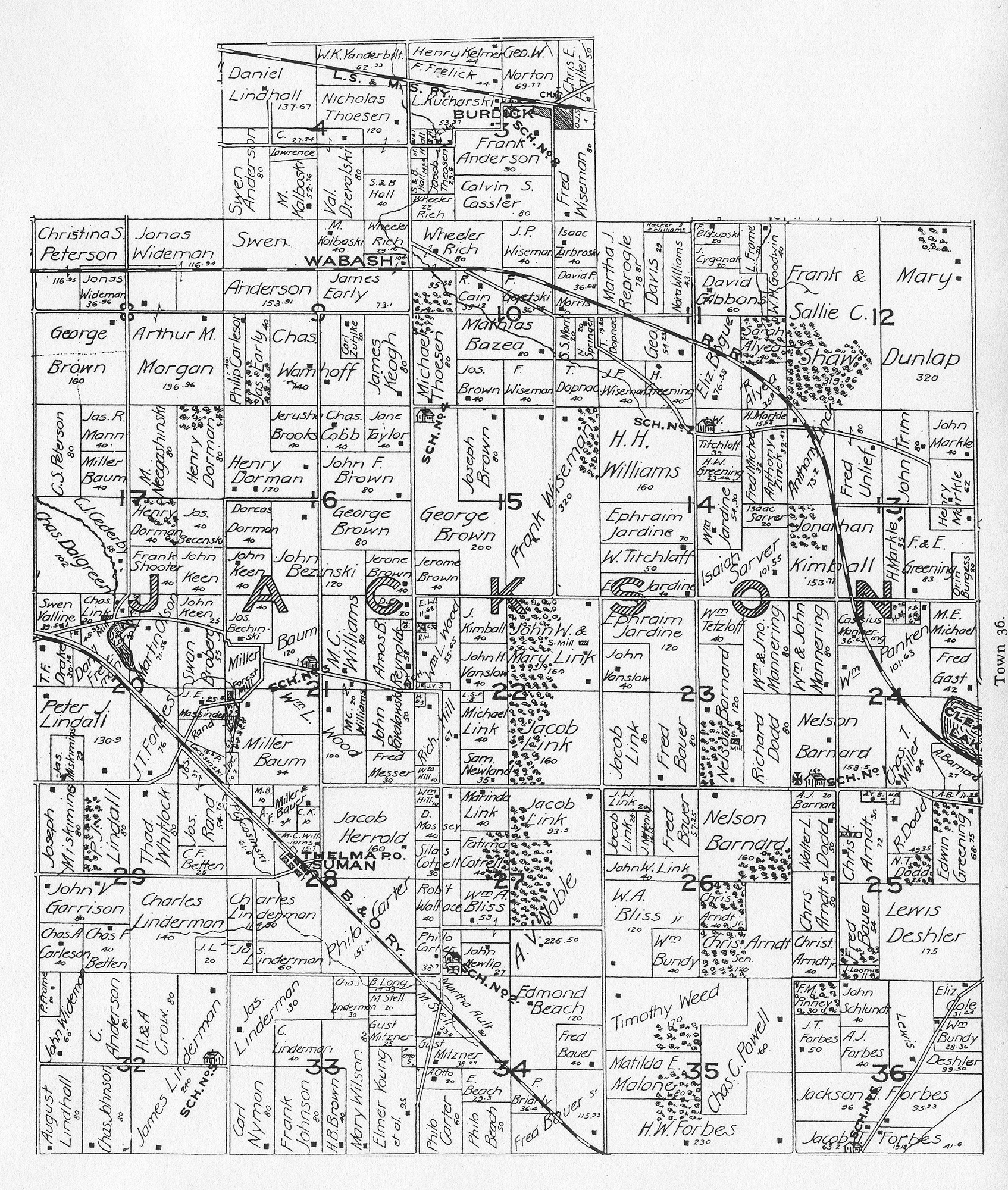 Jackson County Plat Map Porter County, Indiana, GenWeb   Jackson Township Maps