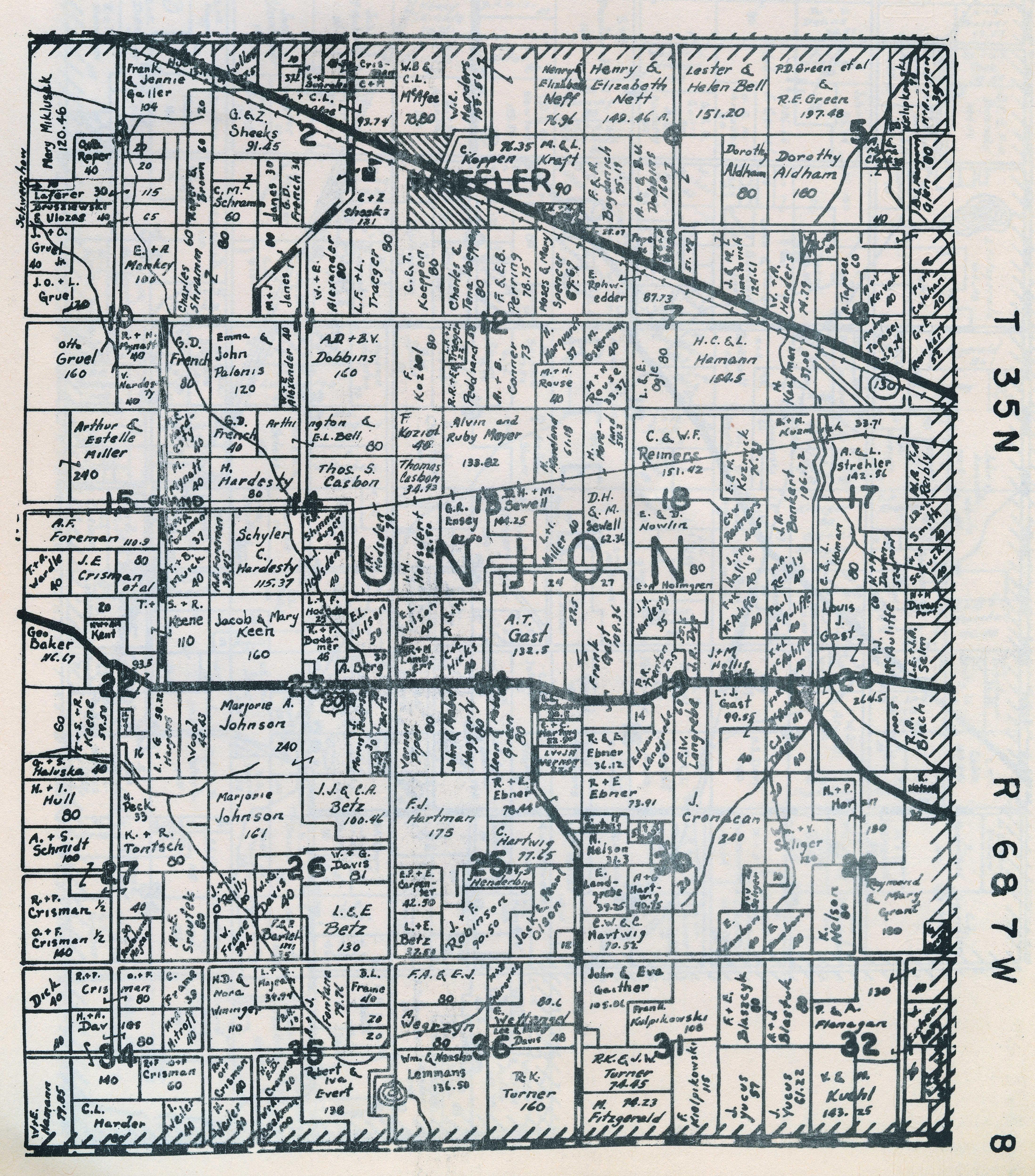 Porter County Indiana Genweb Union Township Maps