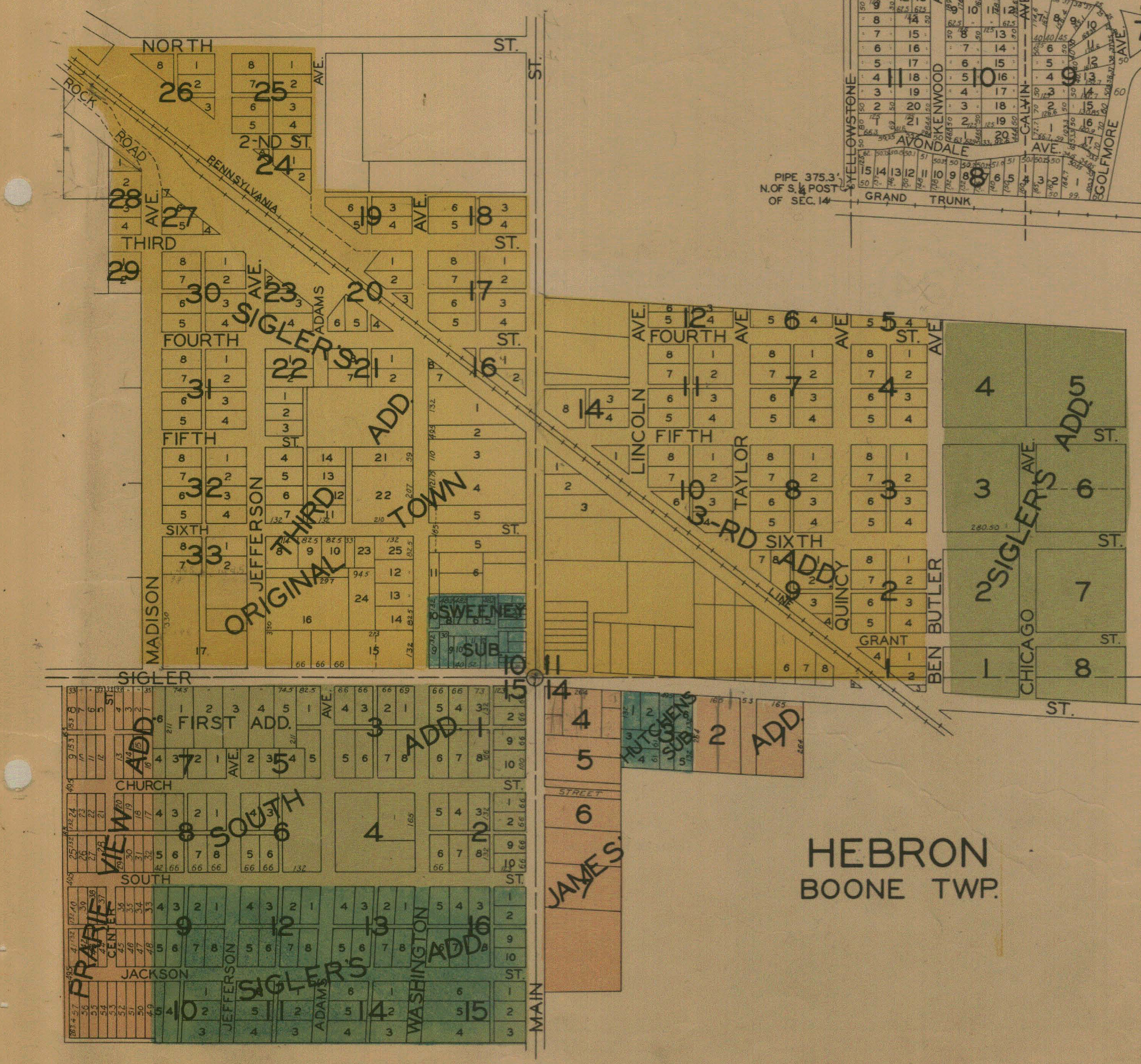 Hebron Indiana Map.Porter County Indiana Genweb City And Village Plat Maps